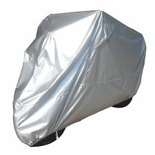 Bike It Motorcycle Rain Cover - Silver - Medium Fits Up To 600cc