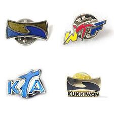 Taekwondo Badges 2pcs Lot Kkw Wtf Fta Butterfly Clutch Tkd Mma Gift Deco Martial