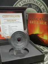 "2014 Niue ""Volcano Erta Ale"" 2 Oz $2 High Relief Lava Rock Silver Coin ECC&C Inc"
