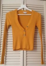 """URBAN OUTFITTERS """"COOPERATIVE"""" T34/XS MAGNIFIQUE PULL/TOP/MAILLE MOUTARDE COM 9!"""