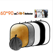 5in1 60cm Light Mulit Collapsible Disc for Photography Panel Reflector Diffuser