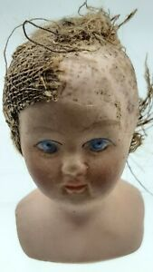 Old Vintage Antique Pottery Bisque China Dolls Doll Head  Victorian