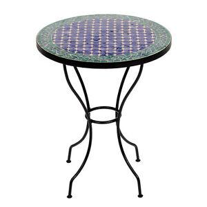 Marokkanischer Mosaiktisch orientalischer Tisch Bistrotisch Gartentisch 60cm Fas