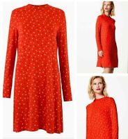 Brand New M*S Ladies Red Hearts Cards Spade Tea Shift Skater Swing Day Dress