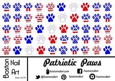 Patriotic Paws Waterslide Nail Decals  - 50 PC - BNA-10179