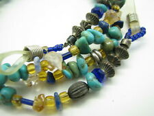 EYEGLASSES CHAIN HOLDER Artisan TURQUOISE Rock Crystal SODALITE CITRINE GEMSTONE