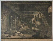 "Old Master Print - Pieter Nolpe's  ""AUTUMNUS"" - Copper Engraving -1650"