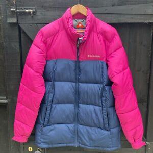 Mens Pink/Blue COLUMBIA Puffer Jacket SIZE M Medium