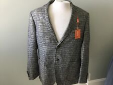 Tallia 42 Short Men's Sport Jacket Black Cream Golf Metal Lined New Two Button