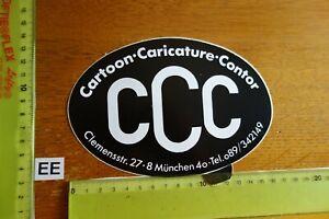Alter Aufkleber Bühne Film Kino Video ComicCCC Cartoon Caricature Contor München