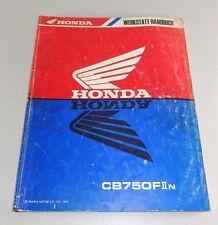 Manual de Taller/Servicio Manual Honda CB 750F II - Salida 1992