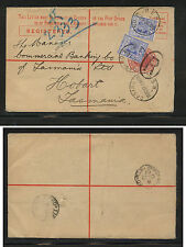 New South Wales  uprated postal registered envelope 1907 local use        AT0519
