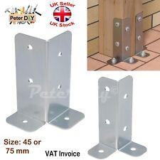 More details for galvanised bolt down base post support one corner fence foot base bracket
