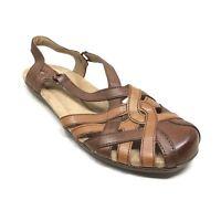 Women's NEW Earth Origins Belle Brielle Slingback Sandals Shoe Size 10 Brown Y13