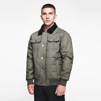 Seventy Seven - Men's Worker Jacket Coat - Olive Green - Warm Winter Autumn Wear