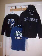 Gymboree Ice Hero Blue Shirt Hockey Lot Long Sleeve Black Hooded Sweatshirt 5T