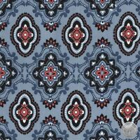 Ticking Stripe denim blue cream Michael Miller fabric