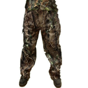 Winter Autumn Tactical Camouflage Hunting Pants Bionic Camo Fleece Trousers