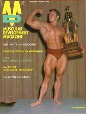 Muscular Development  magazine  Sept / Oct 1974 Ron Thompson - cover