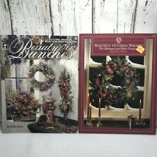Set 2 Floral book instruction Victorian Wreaths Beautiful Bunches dried flowers