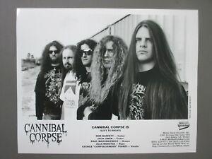 Cannibal Corpse promo photo 8 X 10 glossy black & white photo !