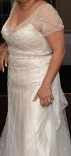 2 piece Champaign Maggie Sottero Haute Couture designer wedding gown