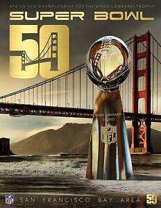 SUPER BOWL 50 DENVER BRONCOS v CAROLINA PANTHERS PROMO NFL POSTER NO. 2