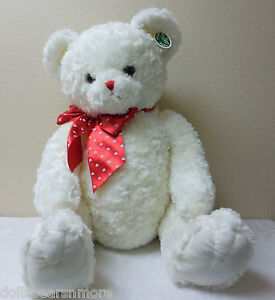 "Bearington Bears 30"" ""LOTS OF LOVEABLE"" Valentine's Day Bear. White. MWT, F/S"