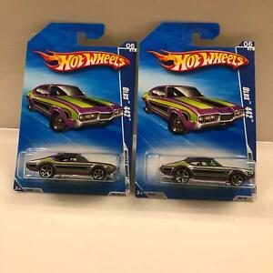Hot Wheels Lot 2X Olds 442 #6/10 Muscle Mania '09 CL26