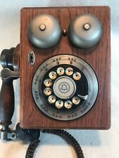 VINTAGE WESTERN ELECTRIC BELL WOOD WALL PHONE TELEPHONE Dial '80s Working Phone