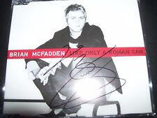 Brian Mcfadden ( Westlife )  Like Only A Woman Can Rare Aust Signed CD Single
