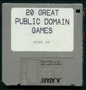 """Atari ST DISK  3 1/2""""/3.5""""  360K DISKS 4 each PD NEW"""