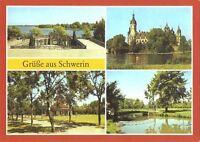 AK, Schwerin, 4 Abb., u.a. Orangerie, 1988