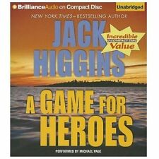 A GAME FOR HEROES unabridged audio book on CD by JACK HIGGINS - Brand New!