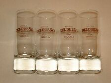 Set of 4 Tequila Shot Glasses Del Dueno Blue Agave 2 Oz. Bar Glass Luminarc