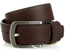 Men Belt Septwolve Genuine Leather Pin Lock Buckle Cow Skin Brown 127235000-x