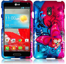For LG Optimus F7 US780 HARD Protector Case Snap On Phone Cover Butterfly Bliss