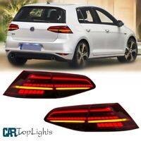 LED Tail Lights For VW Golf MK7 GTI/R 7 7.5 Red Tail Lamps Dynamic Turn Signals