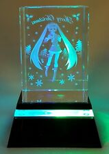 Hatsune Miku Project Diva F LED Light Crystal Art Pedestal SEGA1010734 USA