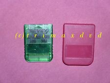 PS1 Memorycard (15 Blocks) grün & roter Schutzhülle _Memory _1000 Spiele im SHOP