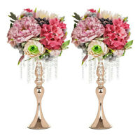 "2pcs 18"" Metal Vase Centerpiece Stand Candle Holder Wedding Flower Table Decor"