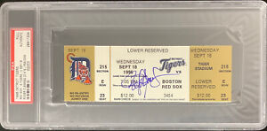 Roger Clemens Signed Full Ticket 9/18/96 20 Ks One Game RedSox Autograph PSA/DNA
