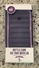 Cook Works - Bottle Cube Ice Tray With Lid - Purple