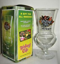 Glass cup Rainforest Cafe Detroit souvenir cold alcoholic beverage new 16.9fl oz