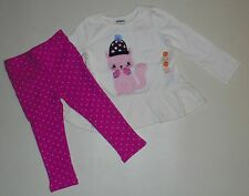 Gymboree Girls Squirrel Swing Top Jeggings 12-18 Months NWT