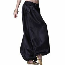 Satin Women Girl Harem Yoga Genie Pant Trouser Belly Dance Pants Costume Outfit