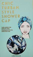 Louvelle Chic Turban Style Shower Cap
