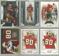 Jerry Rice San Francisco 49ers 6 card 2003-2009 lot-all different