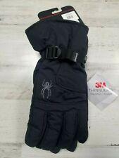 Spyder Ski Snowboard Winter Gloves Shredder Black Gray 3M Men's Large XL NEW