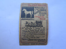 WHITE HORSE WHISKY MATCHES MATCH BOX LABEL c1900 NORMAL SIZE RARE MADE in SWEDEN